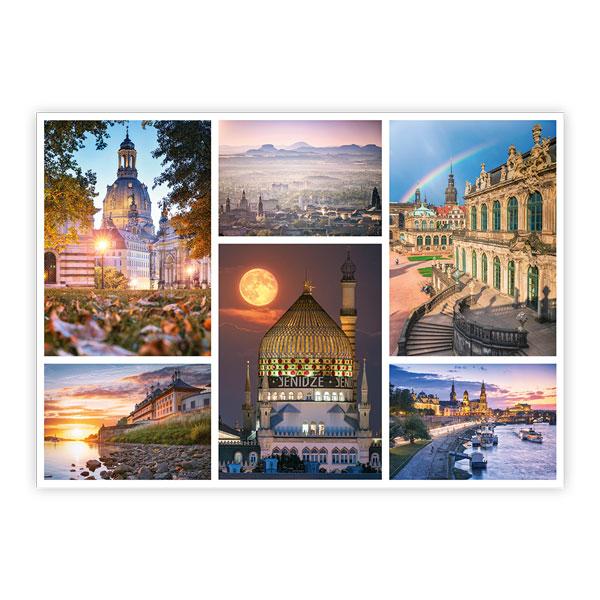 Ansichtskarte Dresden - Collage 3