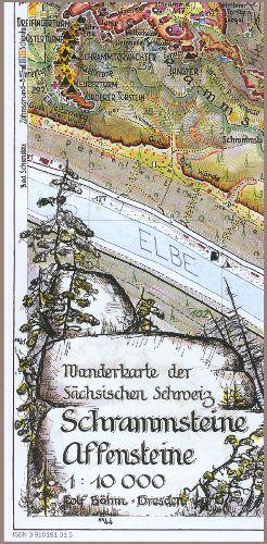 Wanderkarte Schrammsteine - Affensteine - 1 : 10000