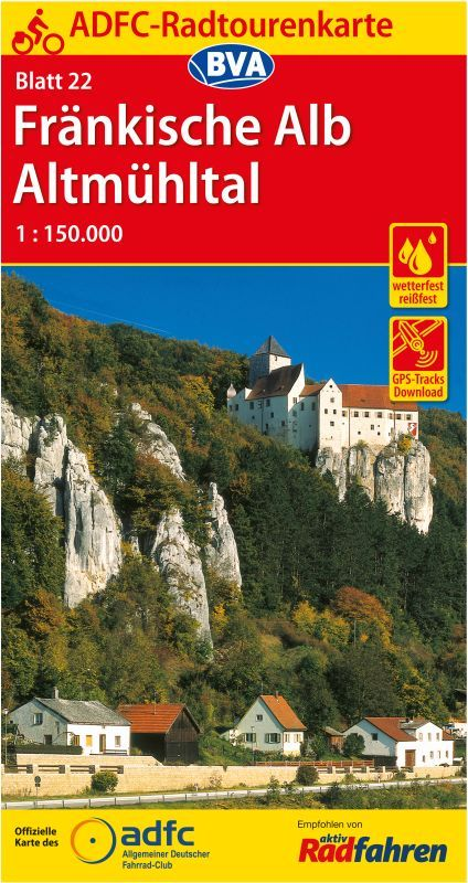 Radkarte Altmühltal Burg