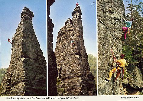 Ansichtskarte Am Spannagelturm und Dachsenstein - Bielatal