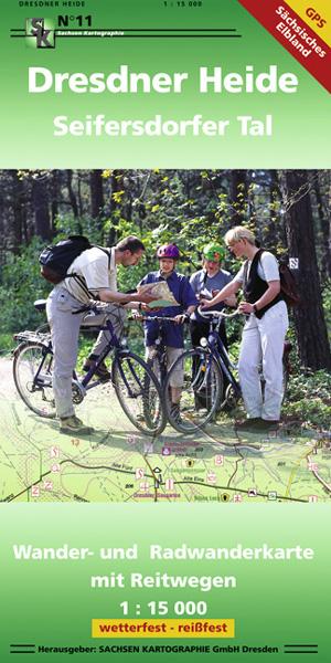 Wanderkarte Dresdner Heide Fahrradfahrer