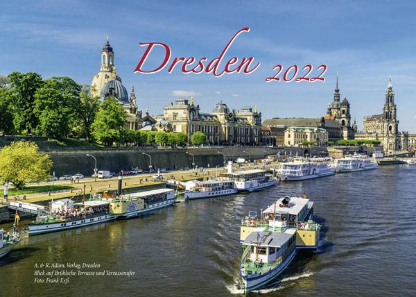 Kalendertitel Dresden 2022 Elbe Dampfer