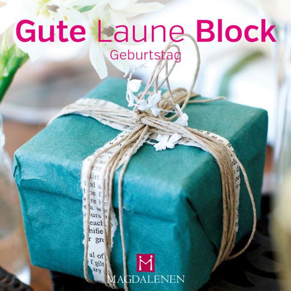 Block Geschenk mit Schleife blau