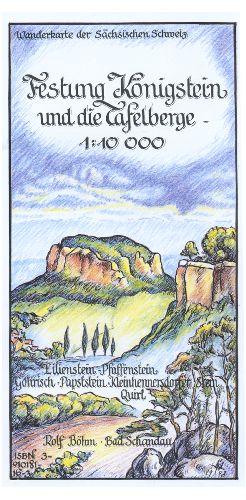 Wanderkarte Festung Königstein und die Tafelberge - 1 : 10000