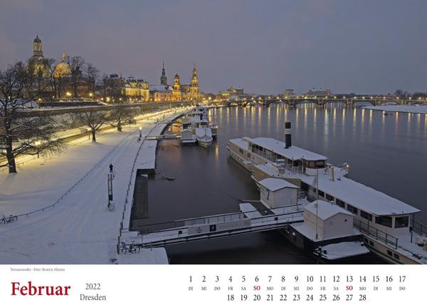 Februar 2022 Dresden Terrassenufer Februar