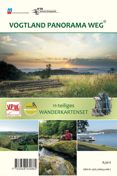 Wanderkartenset Vogtland Panoramaweg