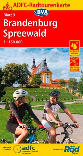 ADFC-Radtourenkarte 09, Brandenburg / Spreewald, 1:150.000