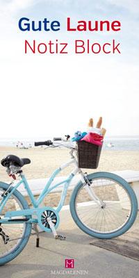 Gute Laune Notizblock Fahrrad