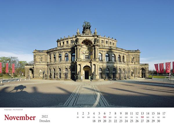 Kalender Dresden 2022 Semperoper November