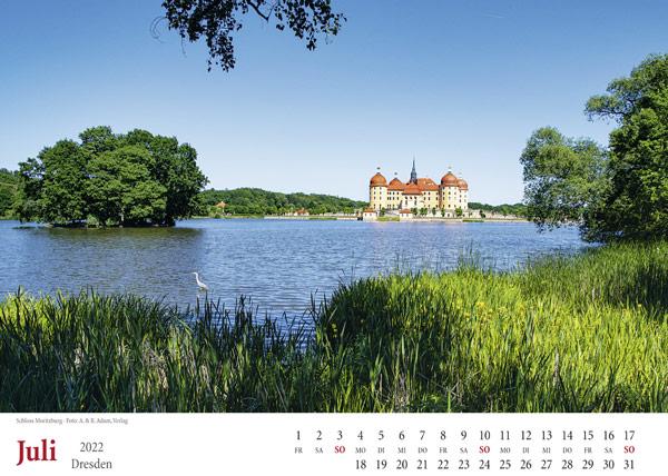Dresden Kalender 2022 Moritzburg Juli