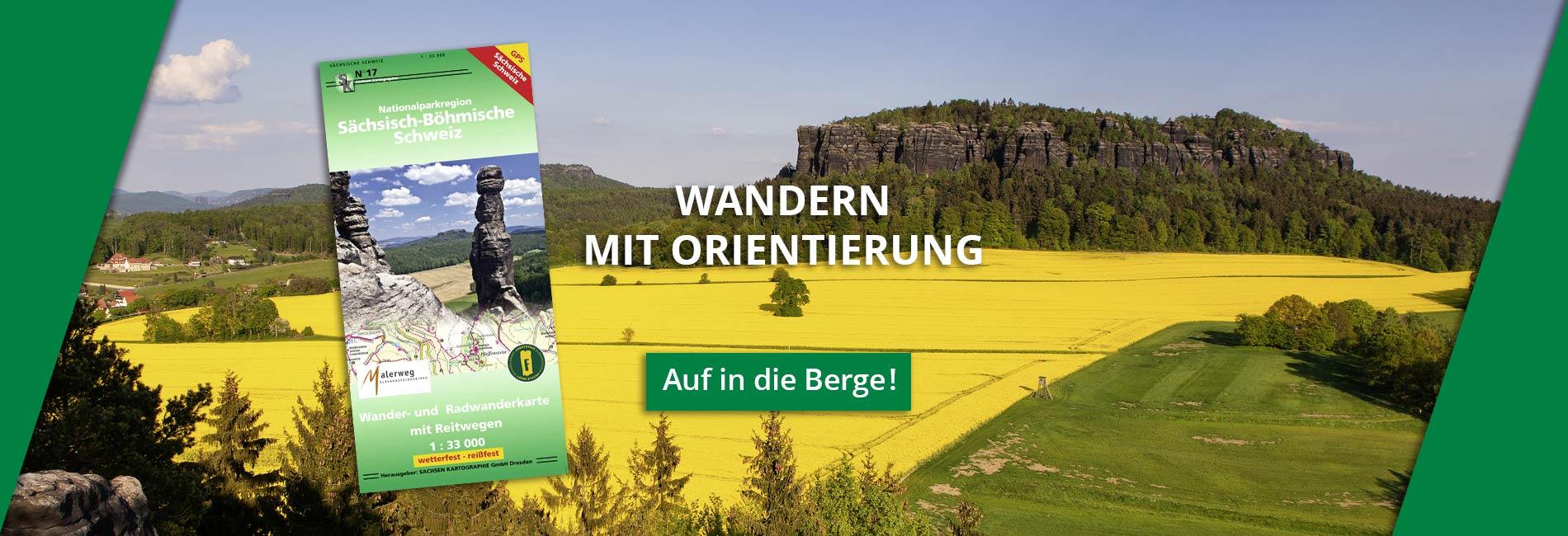 Wanderkarte Pfaffenstein Rapsfeld