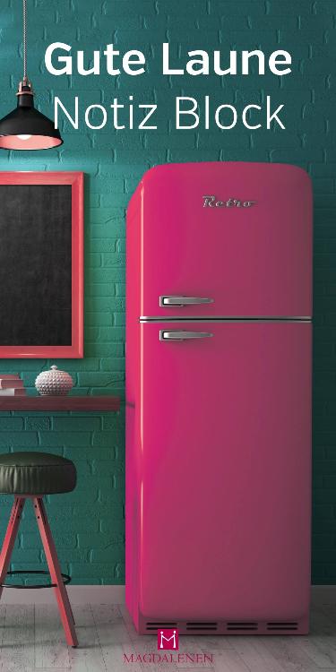 Gute Laune Notizblock Kühlschrank