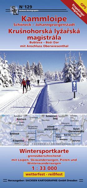 Wintersportkarte Kammloipe Johanngeorgenstadt
