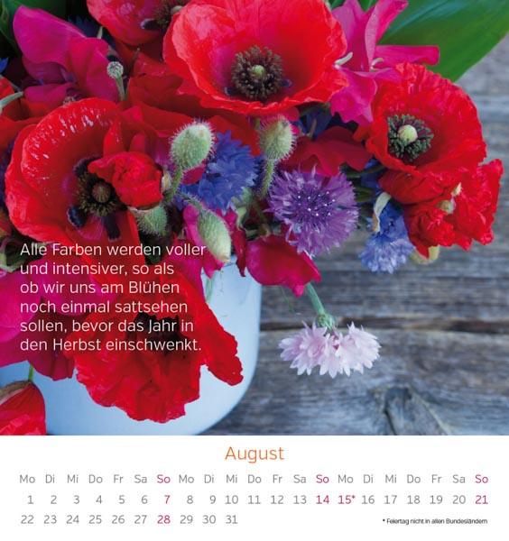 Postkarte Mohnblumen August