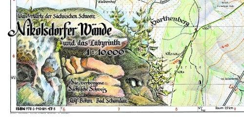 Wanderkarte Sächsische Schweiz Nikolsdorfer Wände