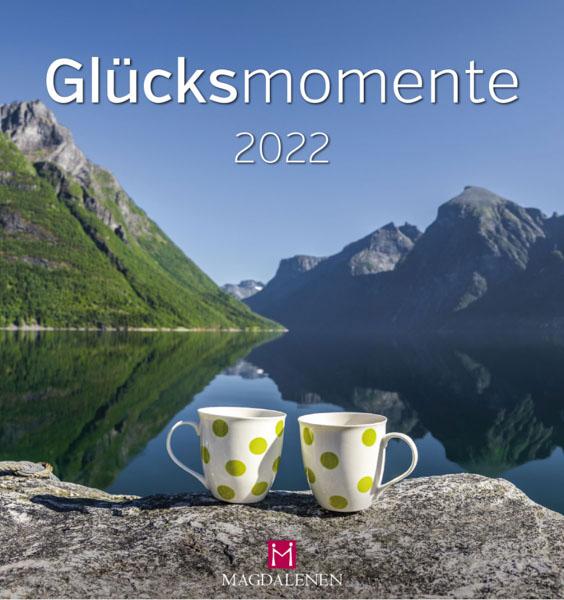 Postkartenkalender Glücksmomente Tassen am Bergsee