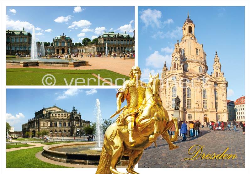 Ansichtskarte Dresdner Sehenswürdigkeiten