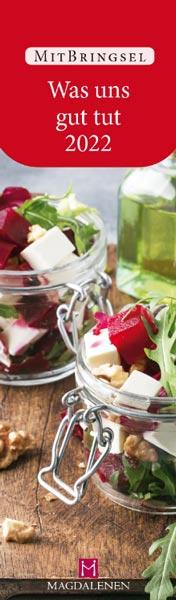 Lesezeichen 2022 Salat auf Tisch