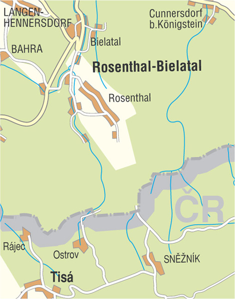 Wanderkarte Bielatal Rosenthal