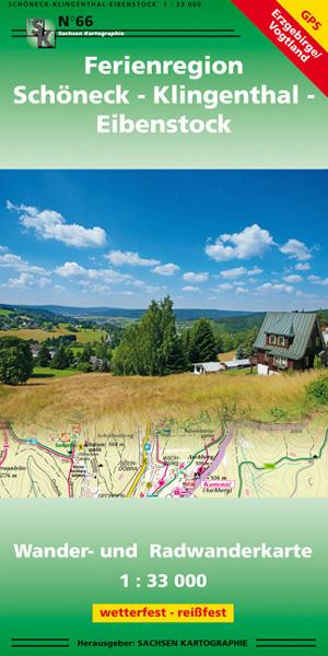 Wanderkarte Ferienregion Schöneck Klingenthal Eibenstock