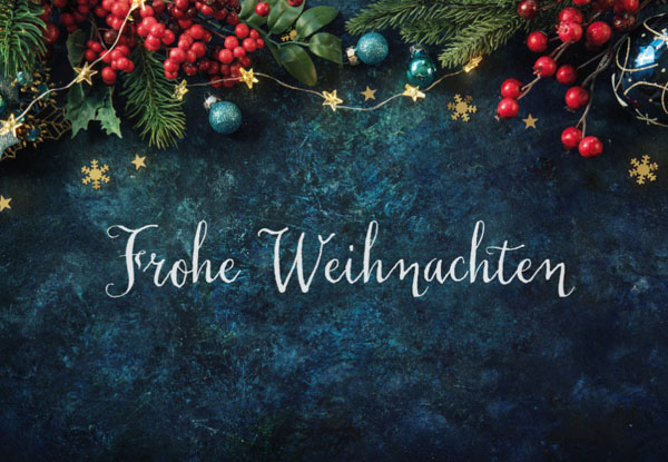 Weihnachtskarte Frohe Weihnachten Girlande