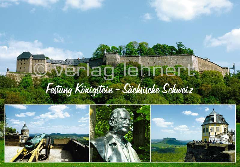 Ansichtskarte Auf der Festung Königstein