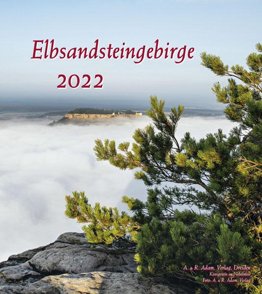 Kalender 2022 Elbsandsteingebirge Nebel