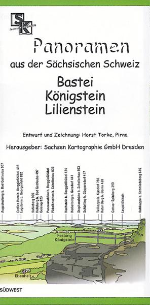 Panoramakarte Sächsische Schweiz Bastei