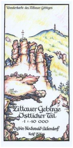 Wanderkarte Zittauer Gebirge Östlicher Teil