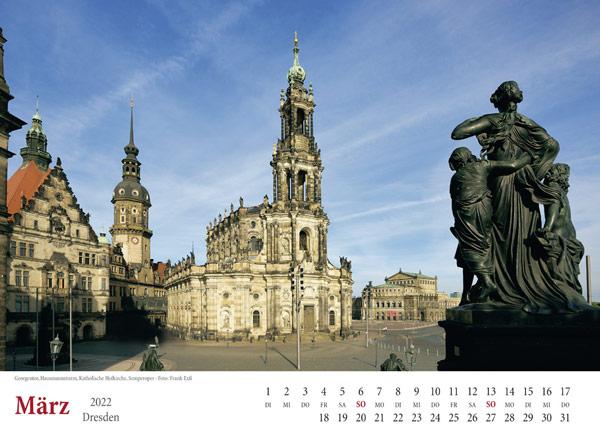 Kalender Dresden 2022 Hofkirche März