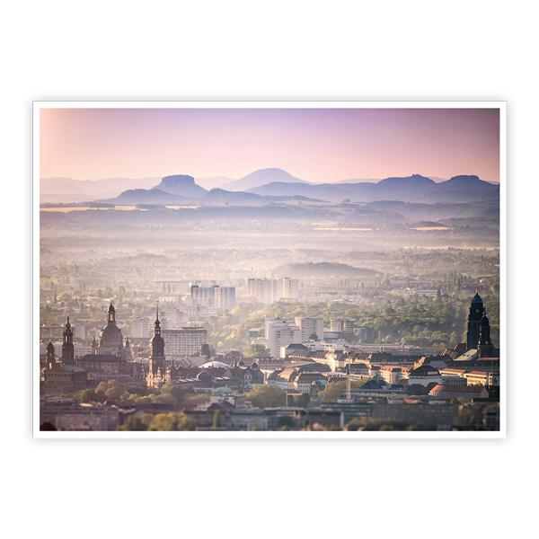 Ansichtskarte Dresden - Dresden und Sächsische Schweiz aus der Luft