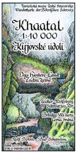 Wanderkarte Khaatal Böhmische Schweiz