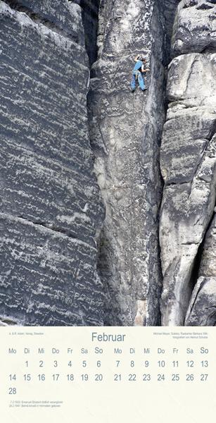 Klettern Sandsteinfelsen