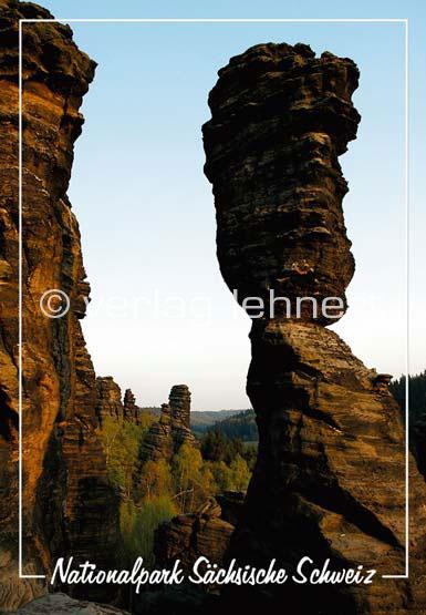 Ansichtskarte Die große Herkulessäule im Bielatal