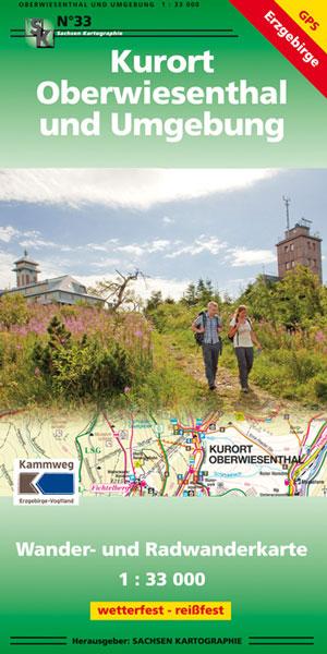 Wanderkarte Kurort Oberwiesenthal und Umgebung