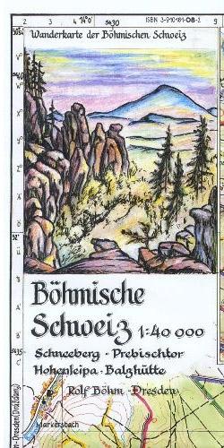 Wanderkarte Böhmische Schweiz Prebischtor