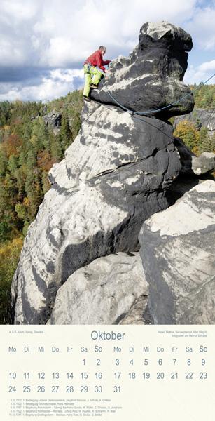Kletterer auf Felsen