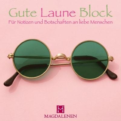 Gute Laune Block Sonnenbrille grün