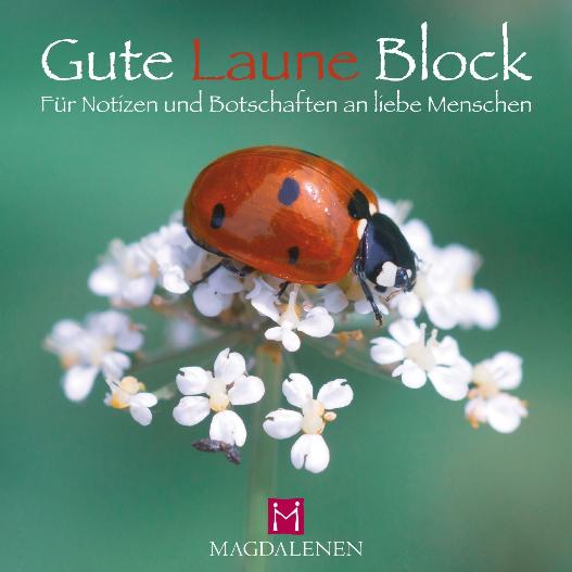 Gute Laune Block Marienkäfer
