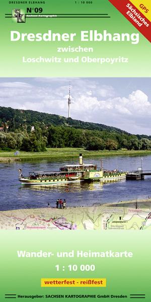 Wanderkarte Dresdner Elbhang Dresden Elbe