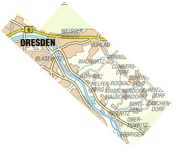 Wanderkarte Dresdner Elbhang